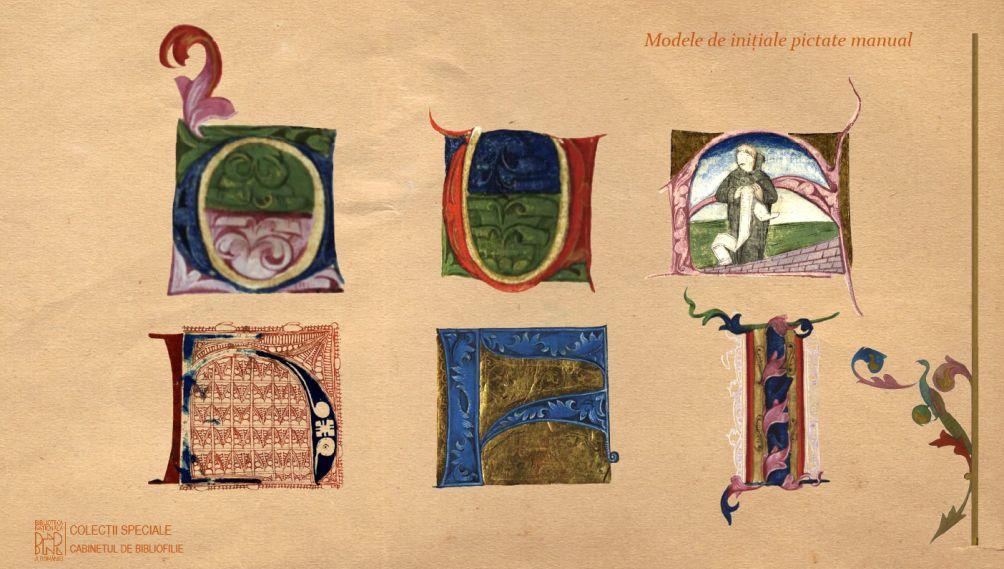 Modele de inițiale pictate manual