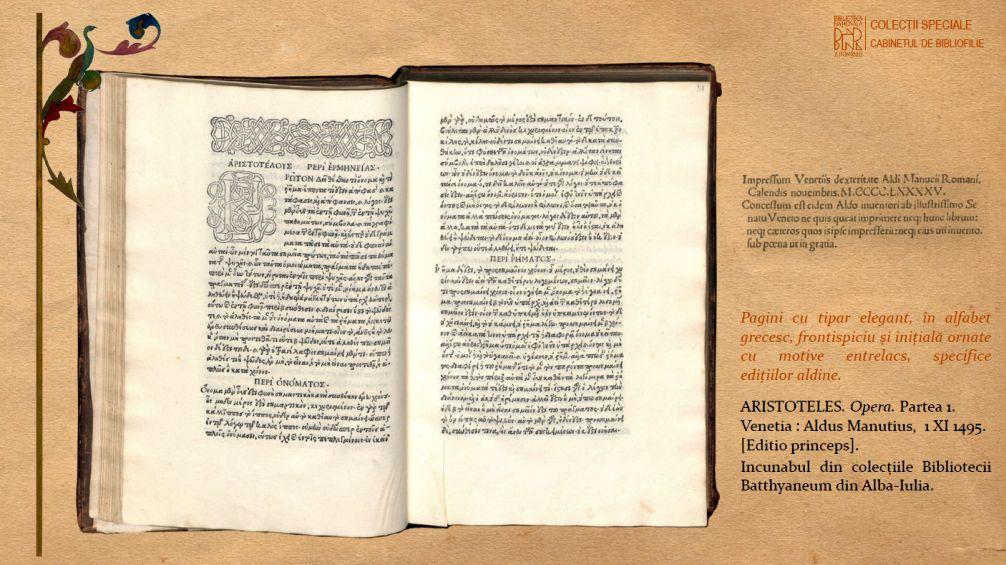 Pagini de tipar, incunabul din 1495